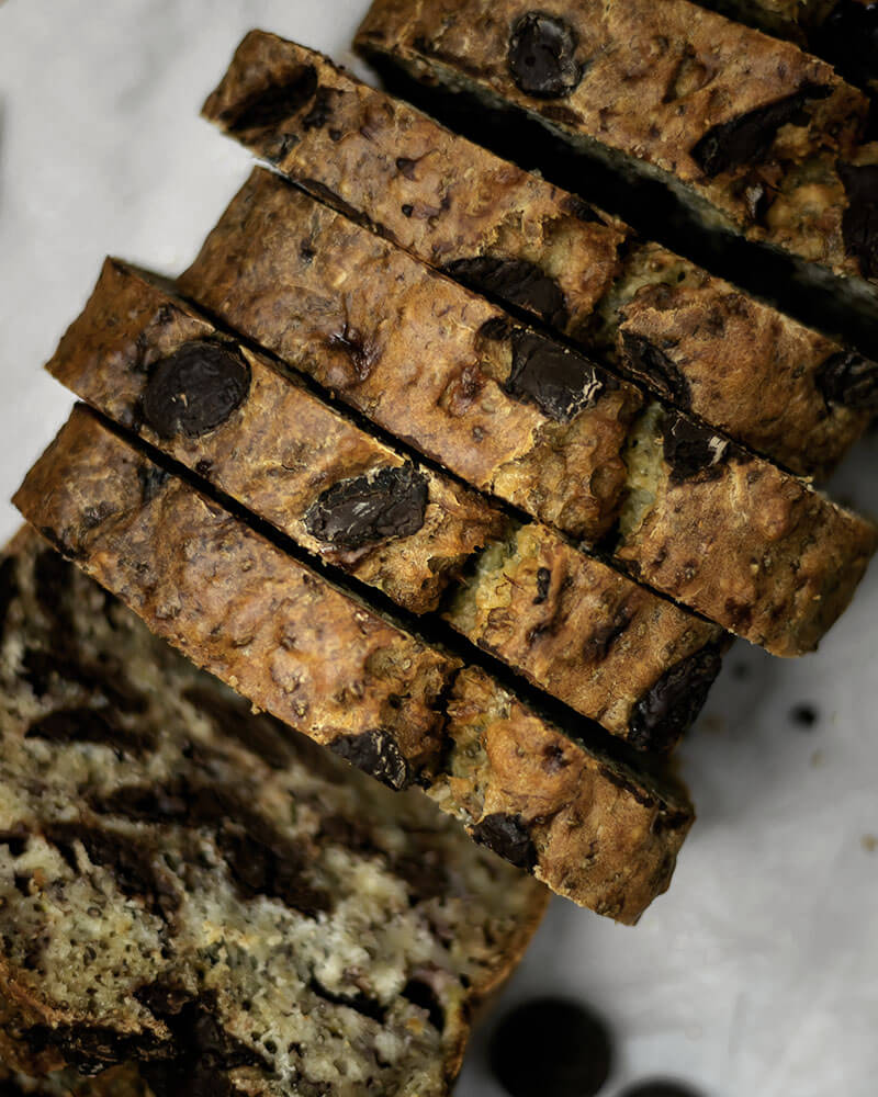 Saftig, schokoladig, lecker: Veganes Bananenbrot mit Schokolade