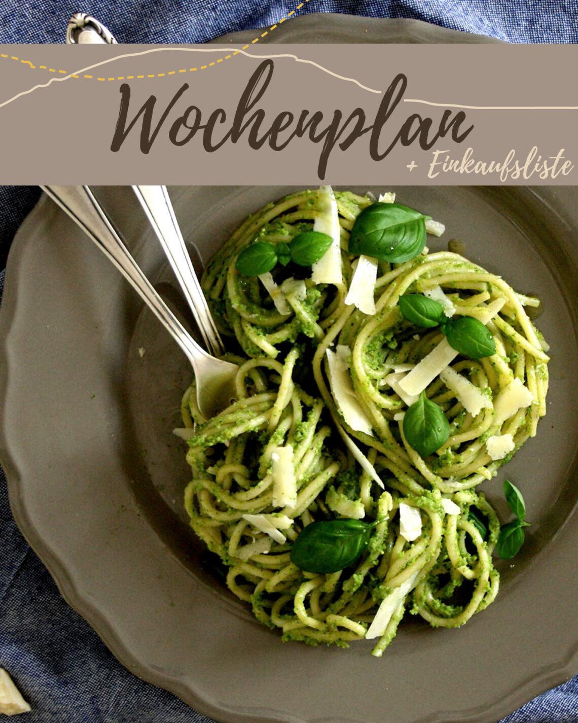 Kostenloser Wochenplan plus Einkaufsliste zum vegetarischen Wochenplan KW 6