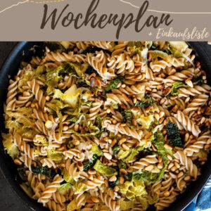 Vegetarisch-veganer Wochenplan KW 7 | Wärmendes Winteressen mit Spitzkohl & Co.