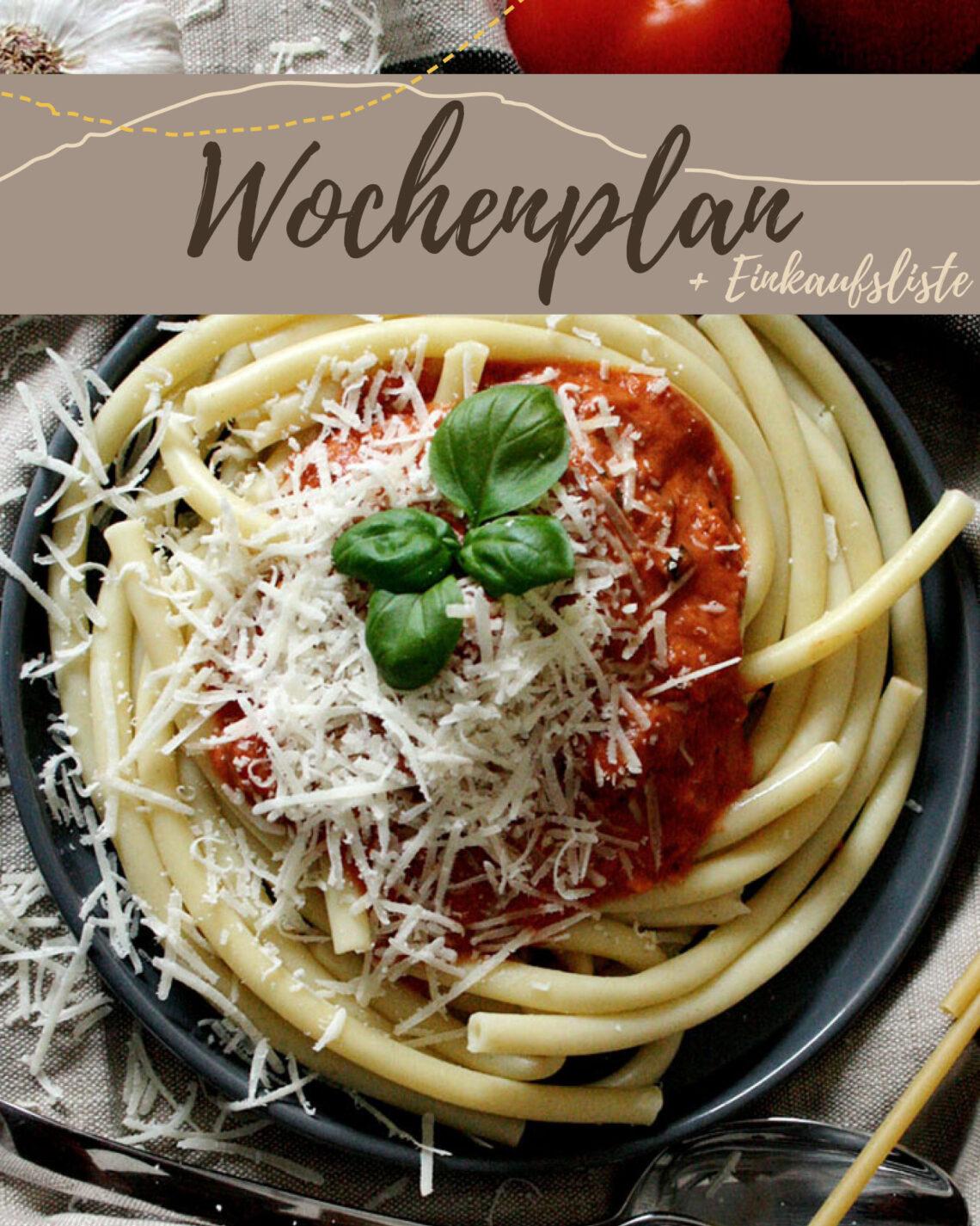 Kostenloser Wochenplan plus Einkaufsliste zum vegetarischen Wochenplan KW 8