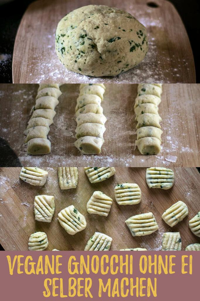 Gleich auf deinem Pinterest-Board merken: Rezept für selbstgemachte Bärlauch-Gnocchi ohne Ei (vegan)